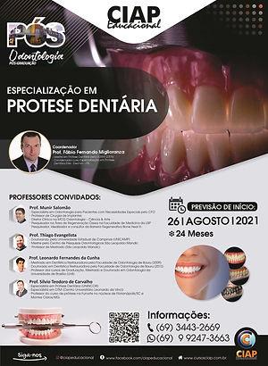 Especialização Prótese Dentária - Agosto
