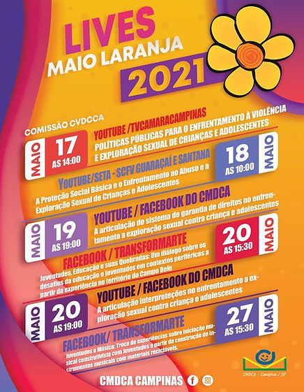 Lives Maio Laranja - CMDCA