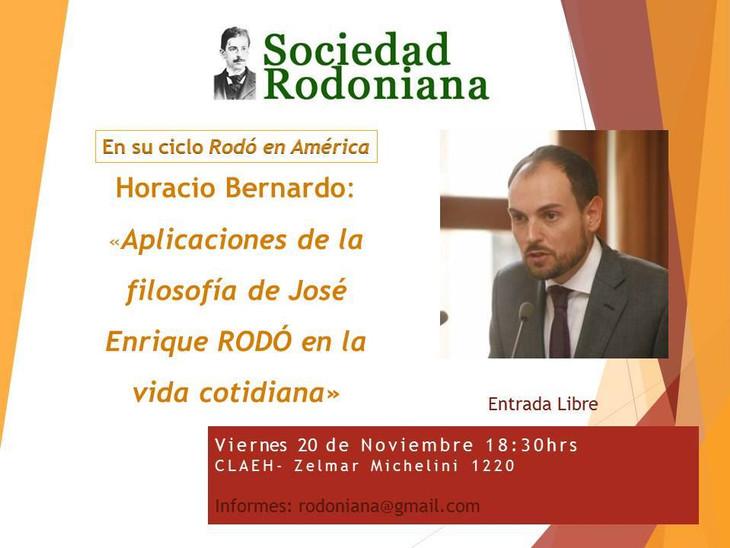 """20.11. 2015. Conferencia: """"Aplicaciones de la filosofía de José Enrique Rodó en la vida cotidia"""