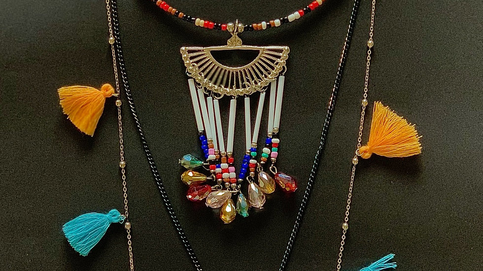 Bohemian Chic Necklace (With Earrings)
