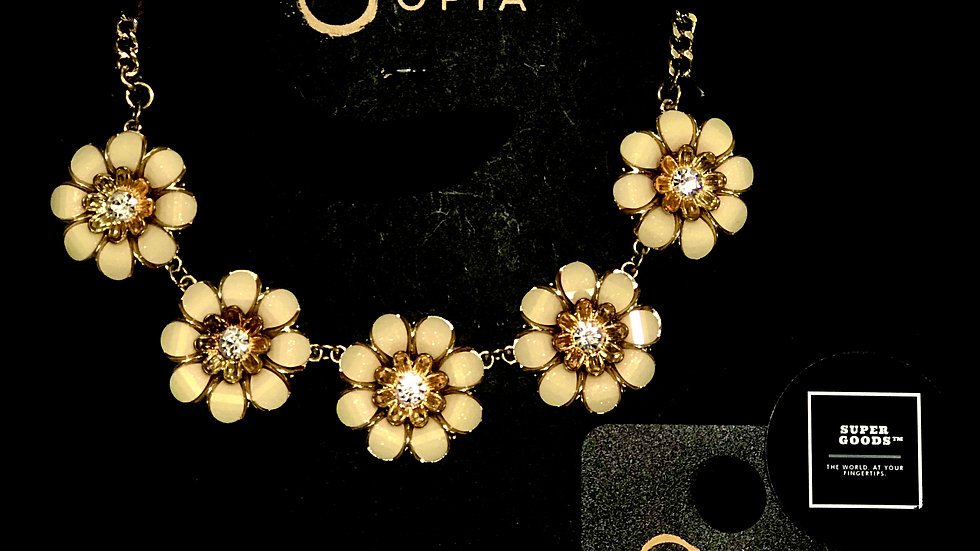 Opia® Flower Statement Necklace and Earrings