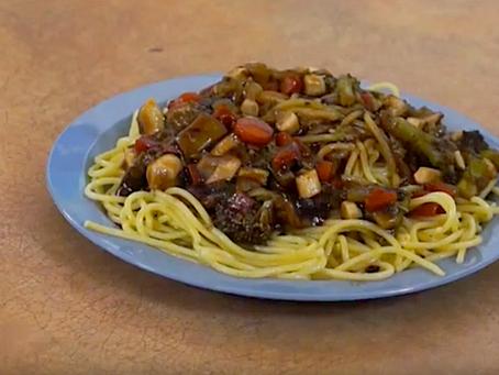 Asian Style Maktaaq Spaghetti