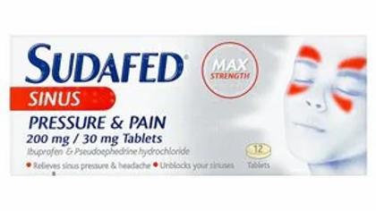 Sudafed Sinus Pressure & Pain Pack of 12 Tabs