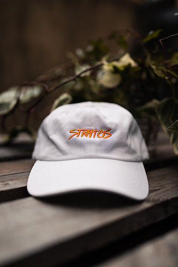 DAD HAT WHITE ORANGE