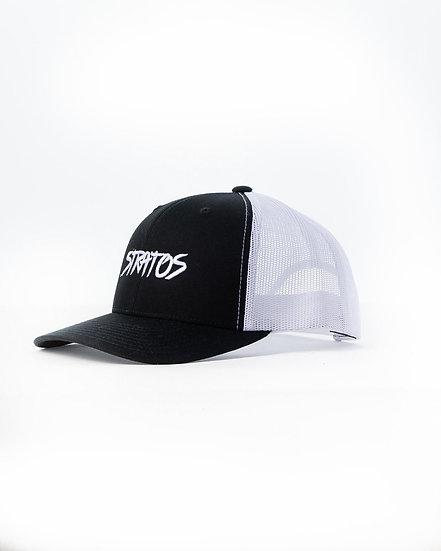 BLACK WHITE SNAPBACK