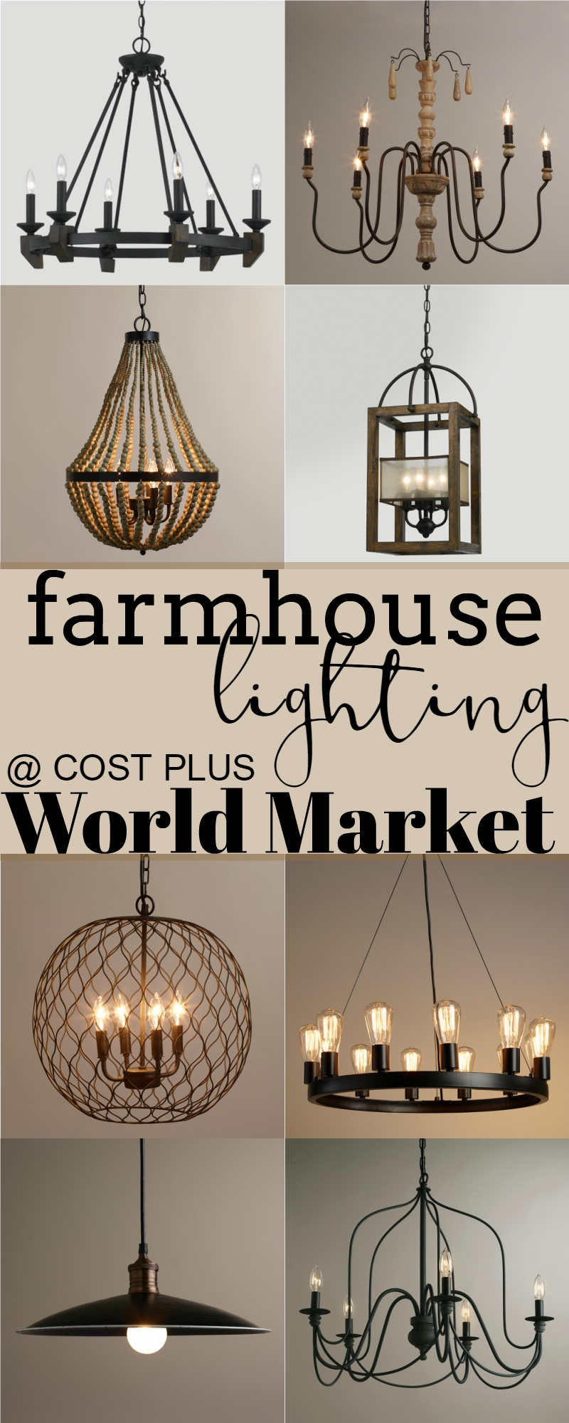 Farmhouse Lighting At Cost Plus World Market Updated