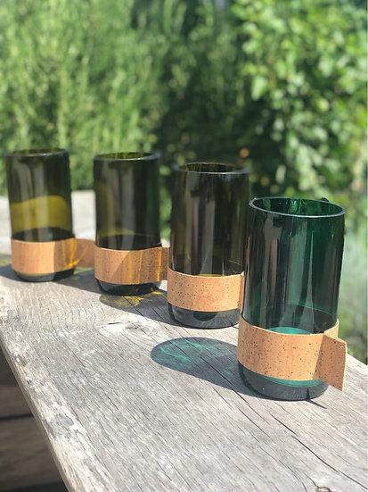 Windlichter aus Weinflaschen