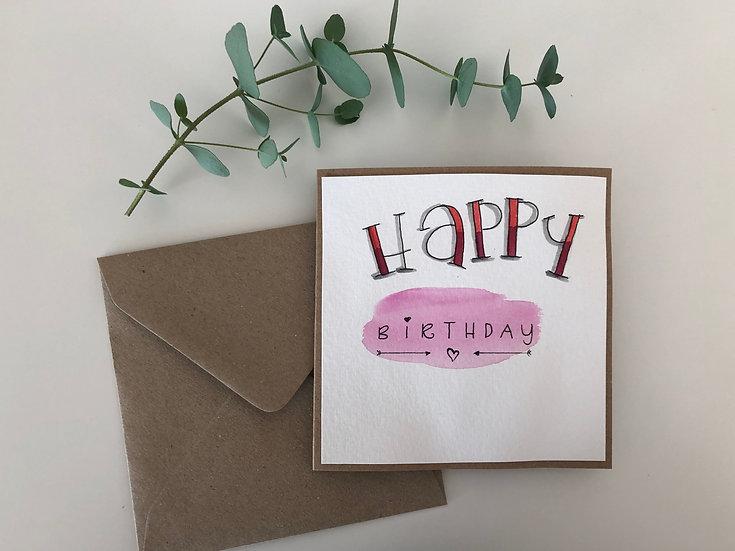 Faltkarte Happy Birthday #1