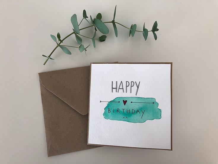 Faltkarte Happy Birthday #2