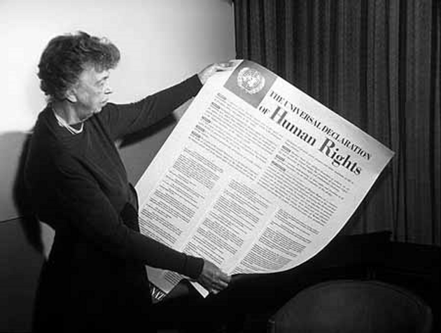 UN HUMAN RIGHTS DECLARATION ELEANOR ROOS