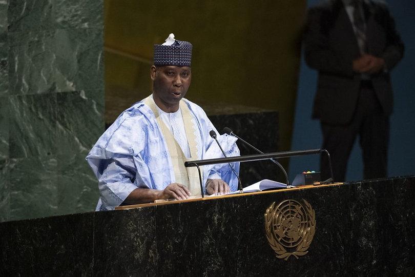 74 UN General Assembly - Tijjani Muhamma