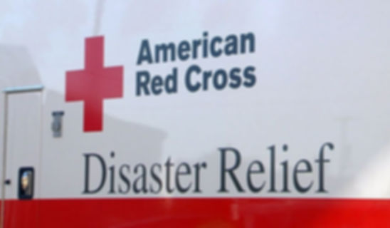 AMERICAN RED CROSS DISASTER RELIEF LOGO.