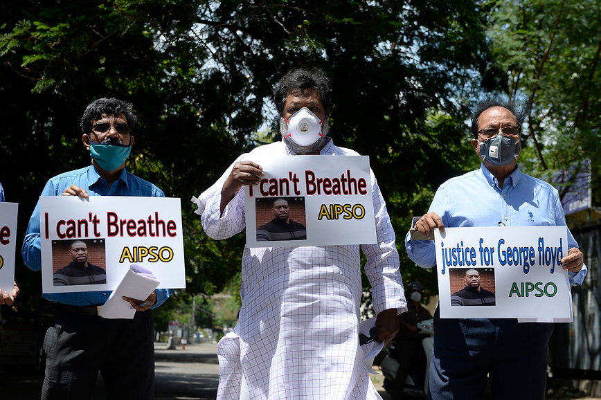 PEACEFUL PROTEST - GEORGE FLOYD - INDIA.