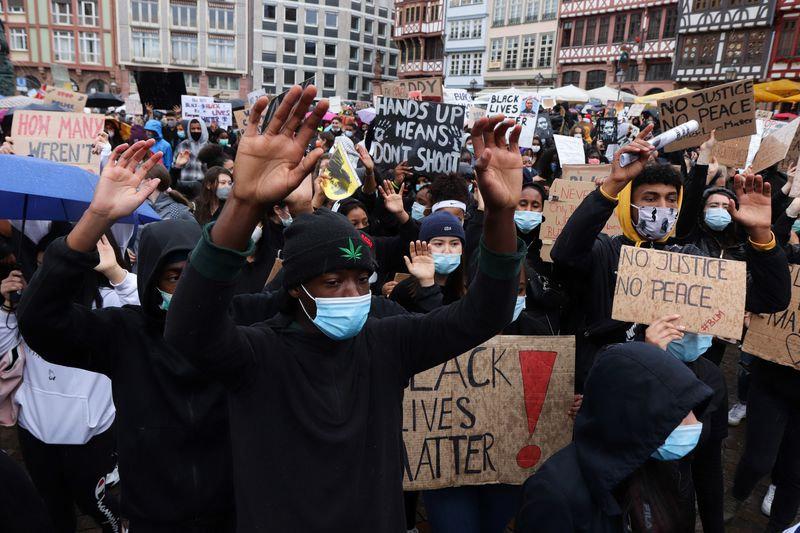 PEACEFUL PROTEST - GEORGE FLOYD - FRANKF