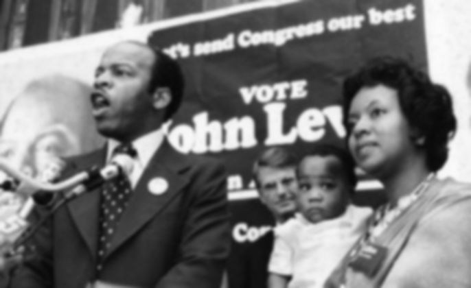 JOHN LEWIS VOTE - WIFE AND SON lillian-l