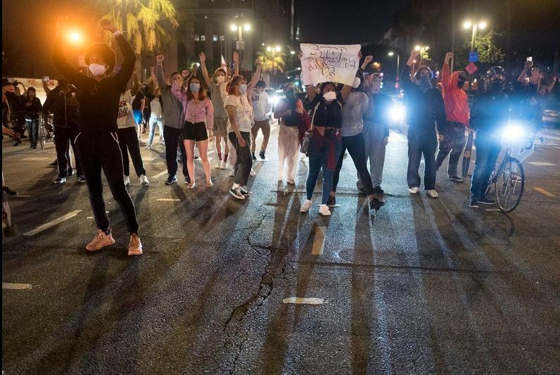 PEACEFUL PROTEST - GEORGE FLOYD - LOS AN