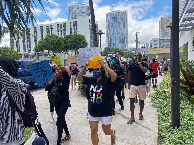 PEACEFUL PROTEST - GEORGE FLOYD - HAWAII