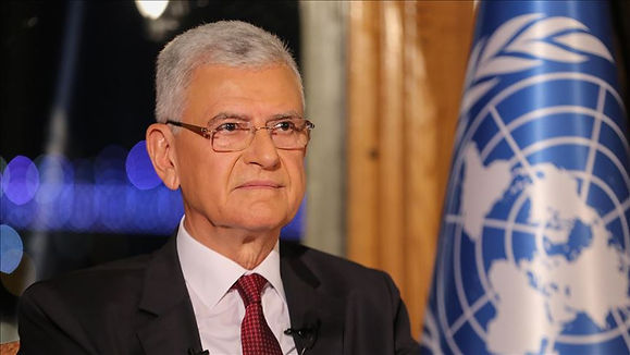 VOLKAN BOZKIR - UN PRESIDENT OF THE 75TH