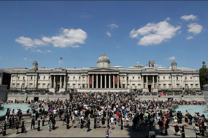 PEACEFUL PROTEST - GEORGE FLOYD - LONDON