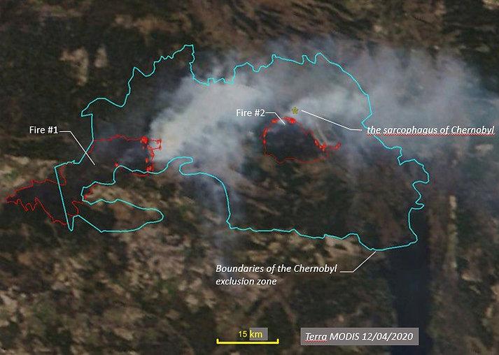 UKRAINE WILDFIRES 2020 CHERNOBYL POWER P