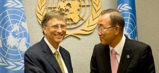 BAN KI-MOON BILL GATES CLIMATE CHANGE CO