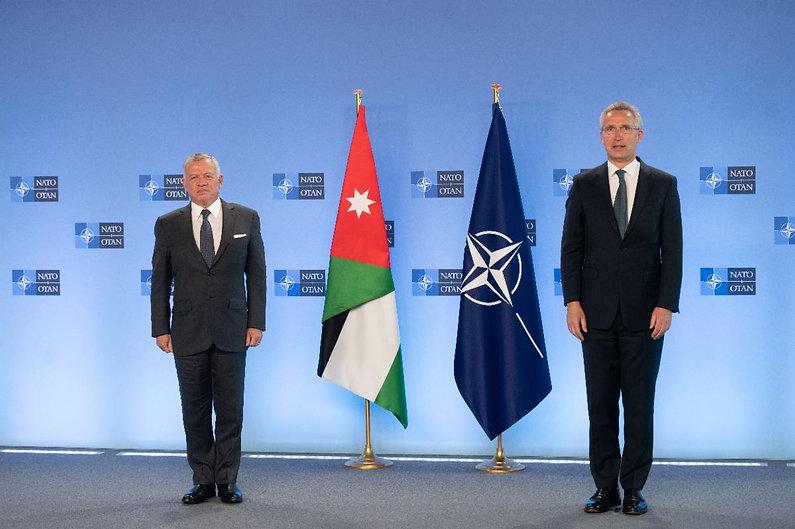 KING ABDULLAH OF JORDAN MEETS NATO SG JE