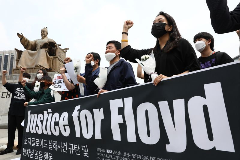 PEACEFUL PROTEST - GEORGE FLOYD - SEOUL