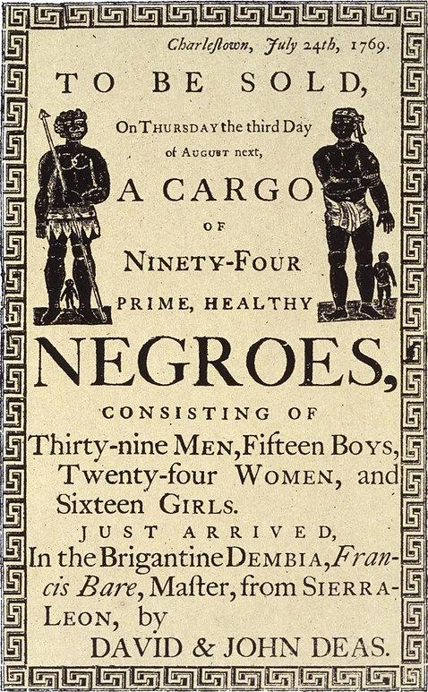 TRANSATLANTIC SLAVE TRADE - CHARLESTON S