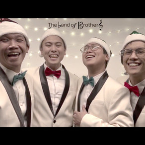 """Experience Harmonic Bliss with The Band of Brothers' Rendition of """"White Christmas"""""""