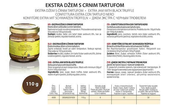 Джем экстра Груша с черным трюфелем Zigante - 110 гр