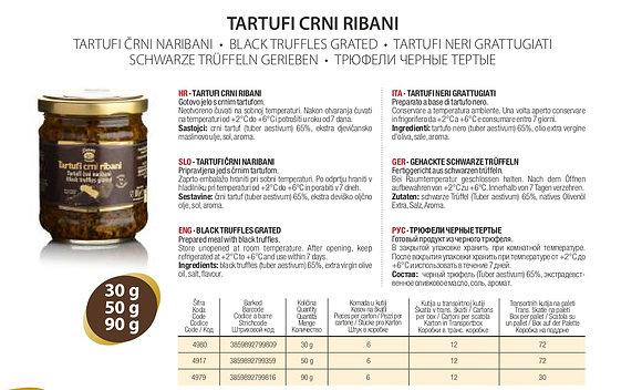 Трюфели Черные тертые Zigante - 30 гр