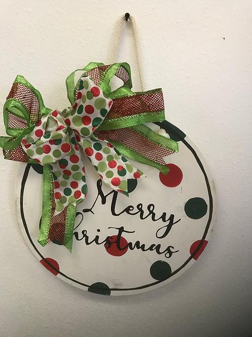 Christmas Wood Wreath