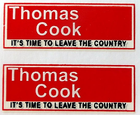 THOMAS COOK REAR ADVERT