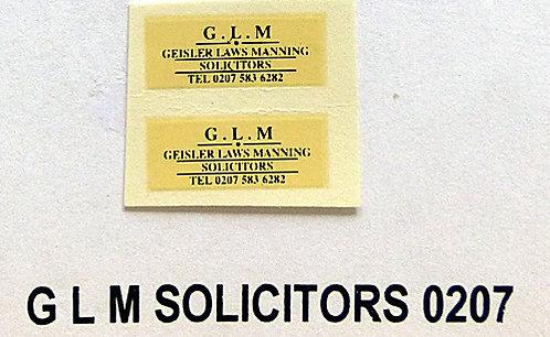 G L M Solicitors (0207)