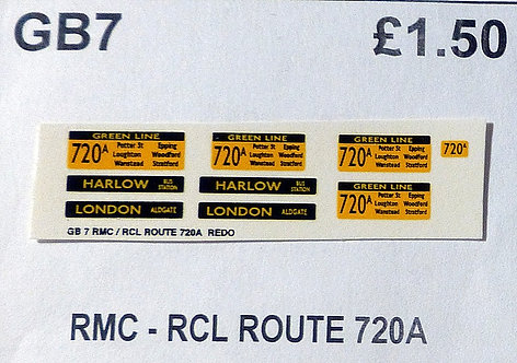 RMC/RCL Green Line Blinds Route 720A