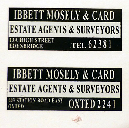 IBBETT MOSELY REAR ADVERTS