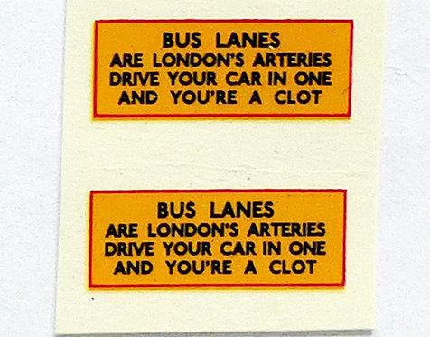 Bus Lanes Clots
