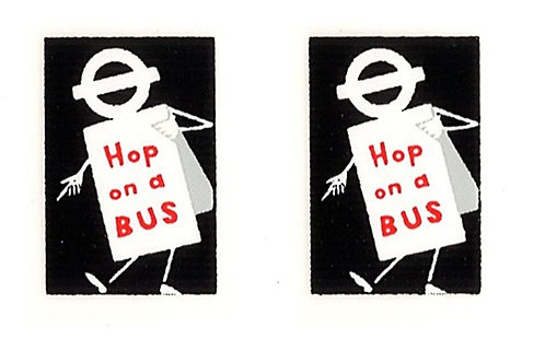 HOP ON A BUS FRONT ADVERTS