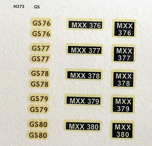 Gold GS76, GS77, GS78, GS79, GS80
