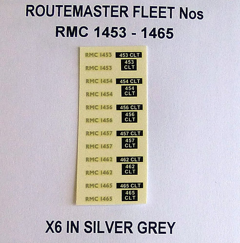Silver RMC 1453 1454, 1456, 1457, 1462, 1465