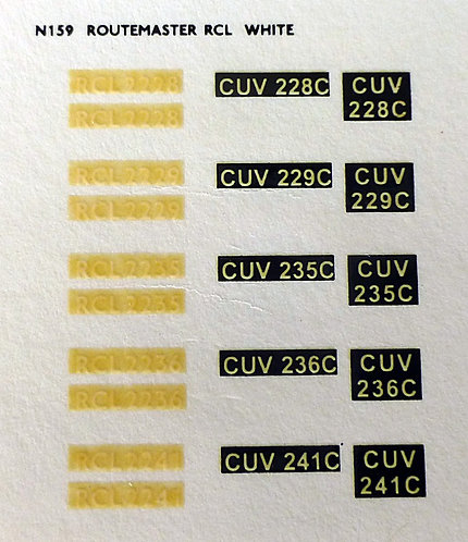 White RCL2228, RCL2229, RCL2235, RCL2236, RCL2241
