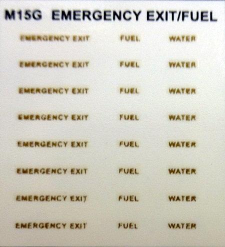 EMERGENCY EXIT FUEL WATER