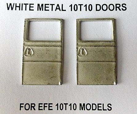 White Metal 10T10 Doors