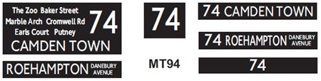 New M / T  Blinds Route 74
