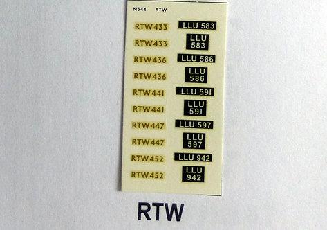 Gold RTW433, RTW436, RTW441, RTW447, RTW452