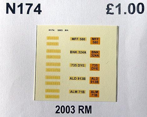 White RM931, RM1568, RM1735, RM1913, RM2122
