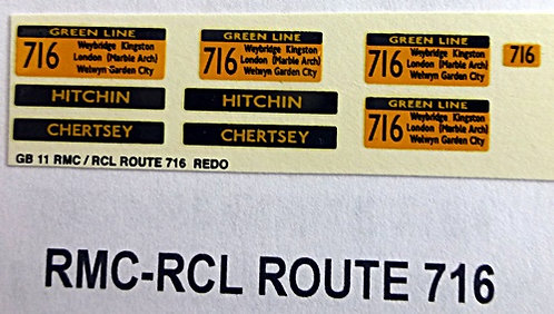 RMC/RCL Green Line Blinds Route 716