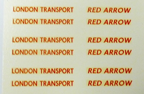 LONDON TRANSPORT  RED ARROW IN RED