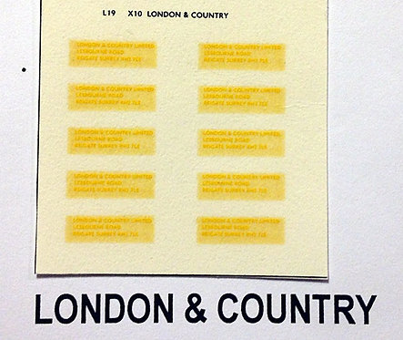 Legal Lettering London & Country