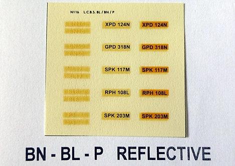 White BN24, BN50, BL17, BL8, P3